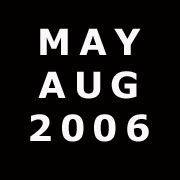 Blog : May-August 2006